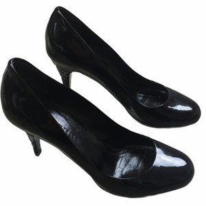 BURBERRY Patent Black Stiletto Heels Size 36